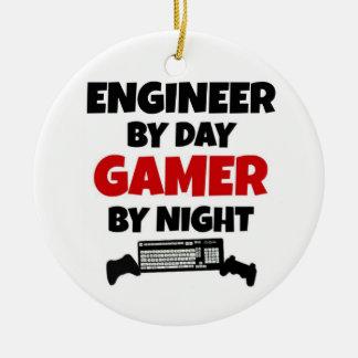 Ornamento De Cerâmica Engenheiro pelo Gamer do dia em a noite