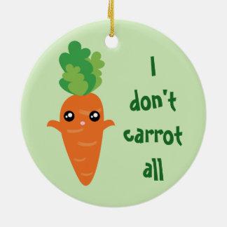 Ornamento De Cerâmica Engraçado eu não faço cenoura todo o Natal do
