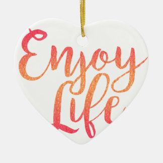 Ornamento De Cerâmica Enjoy life