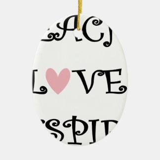 Ornamento De Cerâmica ensine o amor inspiram