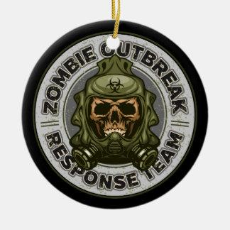 Ornamento De Cerâmica Equipe da resposta da manifestação do zombi