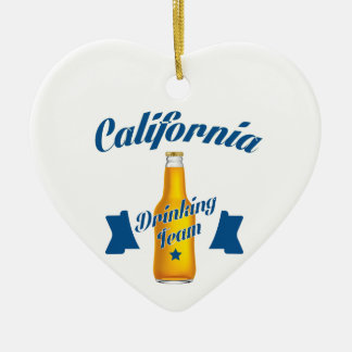 Ornamento De Cerâmica Equipe do bebendo de Califórnia