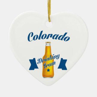 Ornamento De Cerâmica Equipe do bebendo de Colorado