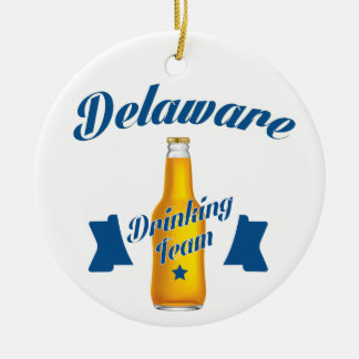 Ornamento De Cerâmica Equipe do bebendo de Delaware