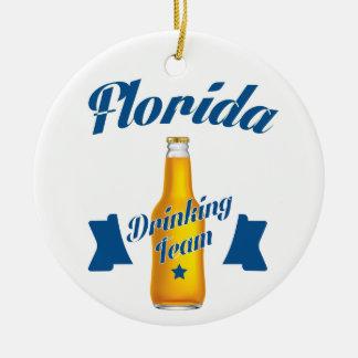 Ornamento De Cerâmica Equipe do bebendo de Florida