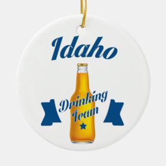 Ornamento De Cerâmica Equipe do bebendo de Idaho