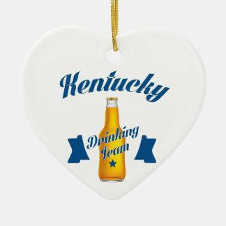 Ornamento De Cerâmica Equipe do bebendo de Kentucky
