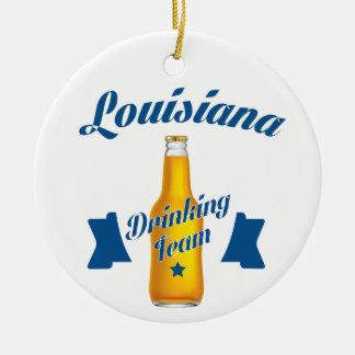 Ornamento De Cerâmica Equipe do bebendo de Louisiana