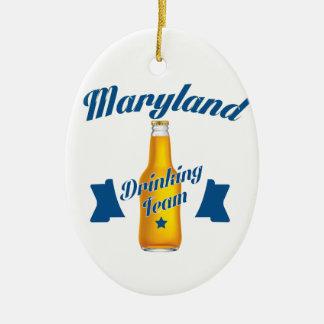 Ornamento De Cerâmica Equipe do bebendo de Maryland