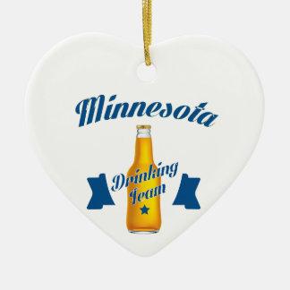 Ornamento De Cerâmica Equipe do bebendo de Minnesota