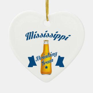 Ornamento De Cerâmica Equipe do bebendo de Mississippi