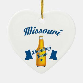 Ornamento De Cerâmica Equipe do bebendo de Missouri