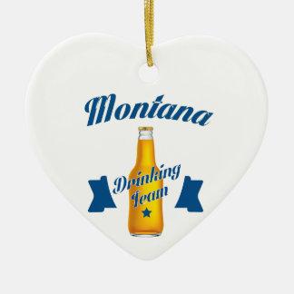 Ornamento De Cerâmica Equipe do bebendo de Montana