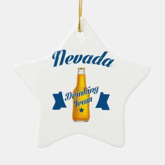 Ornamento De Cerâmica Equipe do bebendo de Nevada