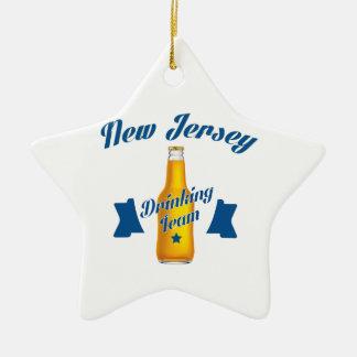 Ornamento De Cerâmica Equipe do bebendo de New-jersey