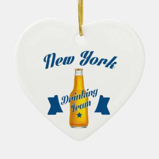 Ornamento De Cerâmica Equipe do bebendo de New York