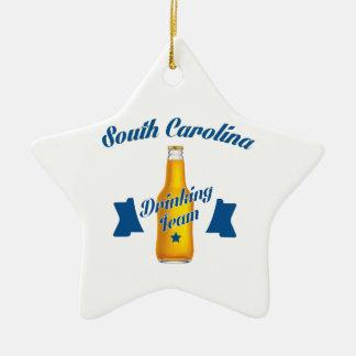 Ornamento De Cerâmica Equipe do bebendo de South Carolina
