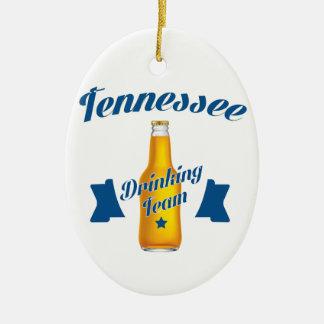 Ornamento De Cerâmica Equipe do bebendo de Tennessee