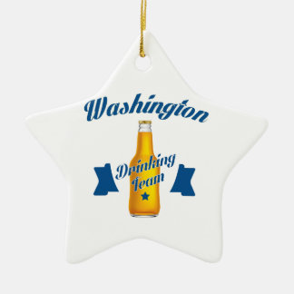 Ornamento De Cerâmica Equipe do bebendo de West Virginia