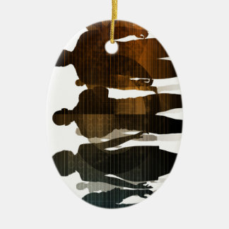 Ornamento De Cerâmica Equipe do negócio dos profissionais que estão para