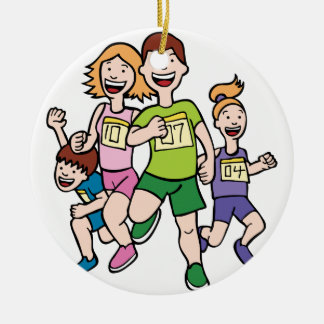 Ornamento De Cerâmica Equipe Running da família