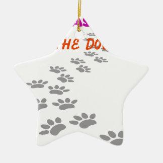 Ornamento De Cerâmica era mim que eu deixei os cães para fora