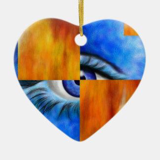 Ornamento De Cerâmica Ersebiossa V1 - olho escondido
