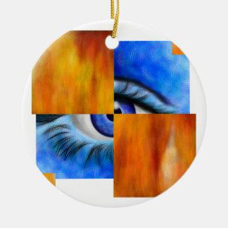 Ornamento De Cerâmica Ersebiossa V1 - olho escondido sem traseiro