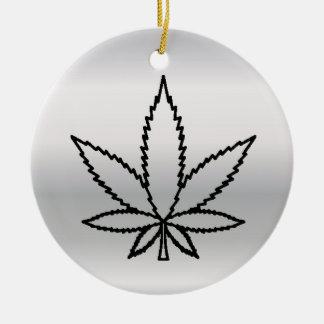 Ornamento De Cerâmica erva daninha de prata