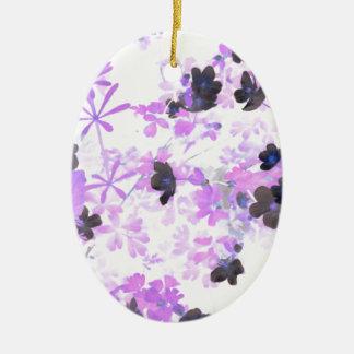 Ornamento De Cerâmica Erva daninha do dedal da lavanda