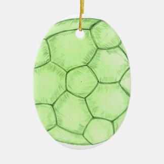 Ornamento De Cerâmica Esboço 2 da bola de futebol