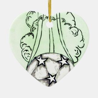 Ornamento De Cerâmica Esboço 3 da bola de futebol