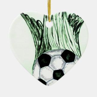 Ornamento De Cerâmica Esboço 4 da bola de futebol