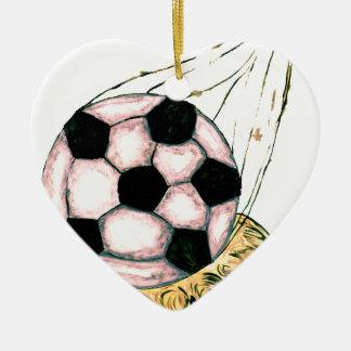 Ornamento De Cerâmica Esboço da bola de futebol