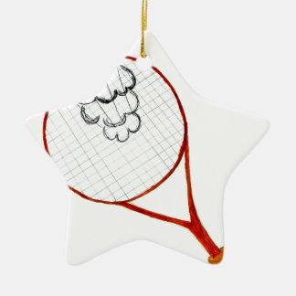 Ornamento De Cerâmica Esboço da bola de tênis