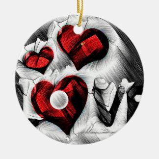 Ornamento De Cerâmica Esboço do amor