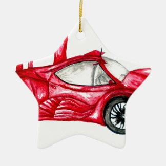 Ornamento De Cerâmica Esboço do carro desportivo