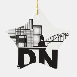 Ornamento De Cerâmica Esboço do texto de Sydney Austrália Sklyine
