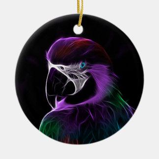 Ornamento De Cerâmica escala do design do fractal do papagaio