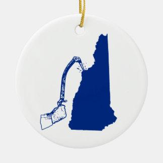 Ornamento De Cerâmica Escalada do gelo de New Hampshire