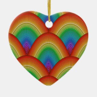 Ornamento De Cerâmica escalas do arco-íris
