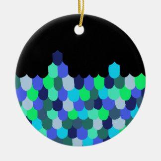 Ornamento De Cerâmica Escalas do azul e do verde