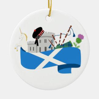 Ornamento De Cerâmica Escocês