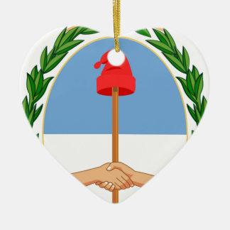 Ornamento De Cerâmica Escudo de Argentina - brasão de Argentina