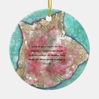 Ornamento De Cerâmica Escudo do Conch