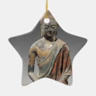 Ornamento De Cerâmica Escultura descolorada de Buddha - dinastia de Tang