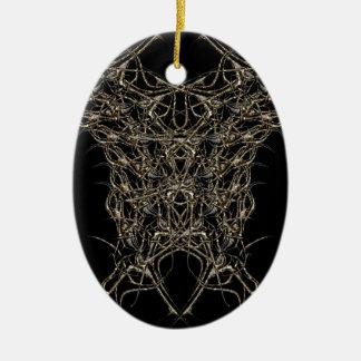 Ornamento De Cerâmica escuro de ouro