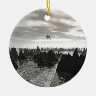 Ornamento De Cerâmica Esferas azuis misteriosas