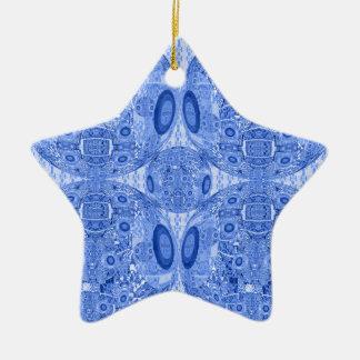 Ornamento De Cerâmica Esferas psicadélicos azuis