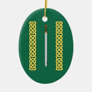 Ornamento De Cerâmica Espada celta e Knotwork